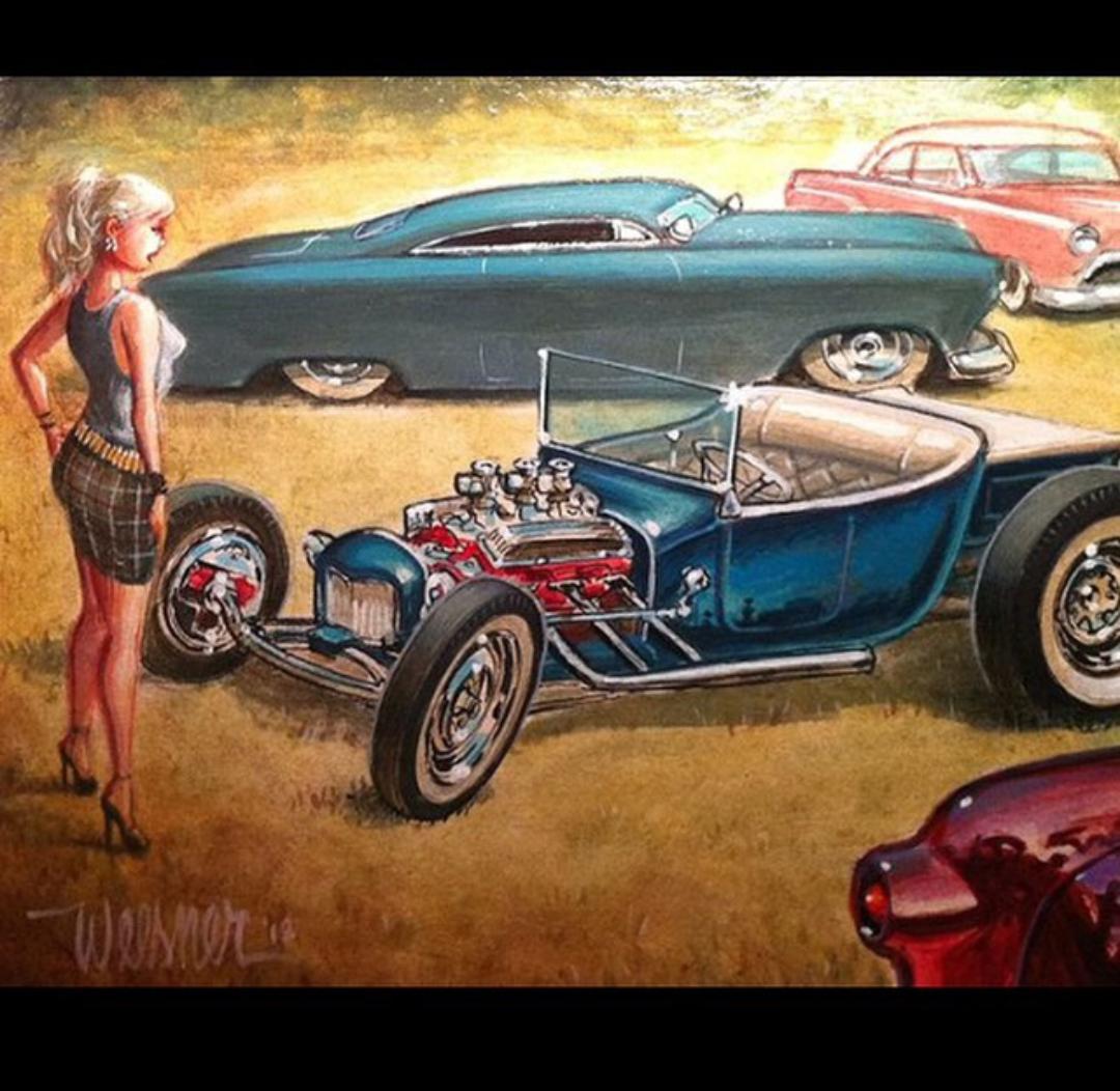 Vintage Drag Racing Hot Rods Photo Garage Art Automotive