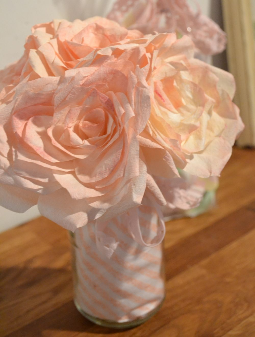 How To Paper Roses From Coffee Filters Craft Ideas Pinterest