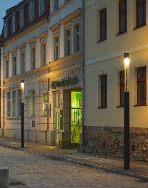 Marktplatz in Haldensleben Außenbeleuchtung, Beleuchtung