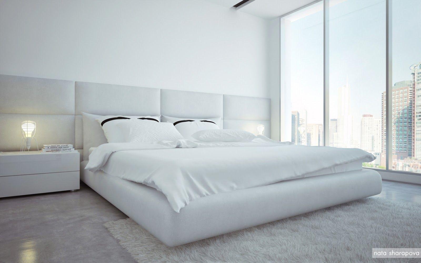 Recamaras blancas minimalistas