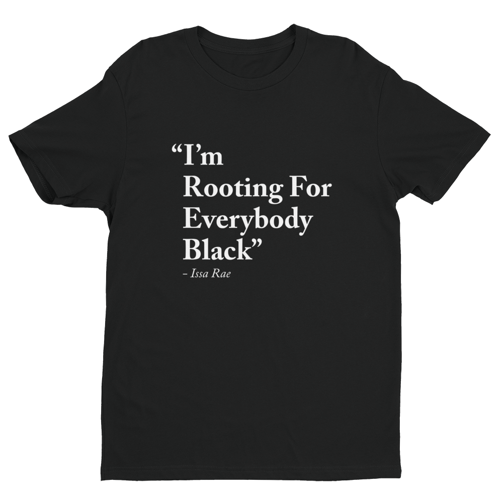 Mad Over Shirts Im Rooting for Everybody Black Unisex Premium Tank Top