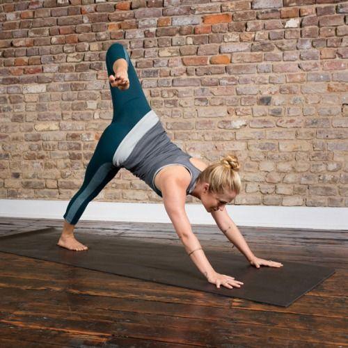 3 Legged Dog Hip Flexor Energizing Yoga Womens Health Magazine