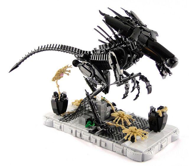 Xenomorph Queen Legomania Pinterest Lego Lego Creations And