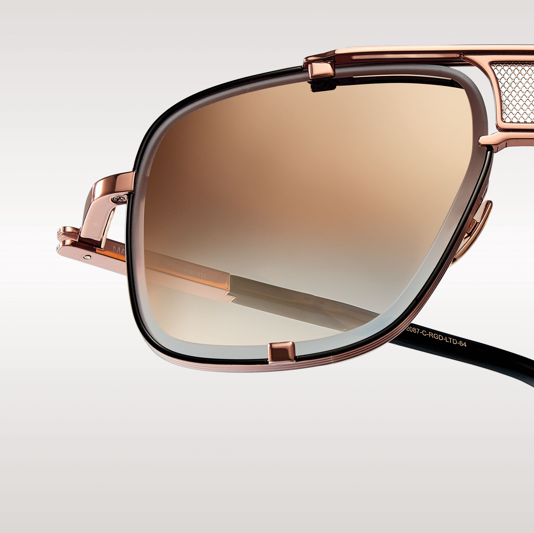 abcbcaa01e The Rose Gold Mach-Five Aviator Sunglasses by DITA Eyewear are a limited  edition run of only 500 pieces.  DITALTD