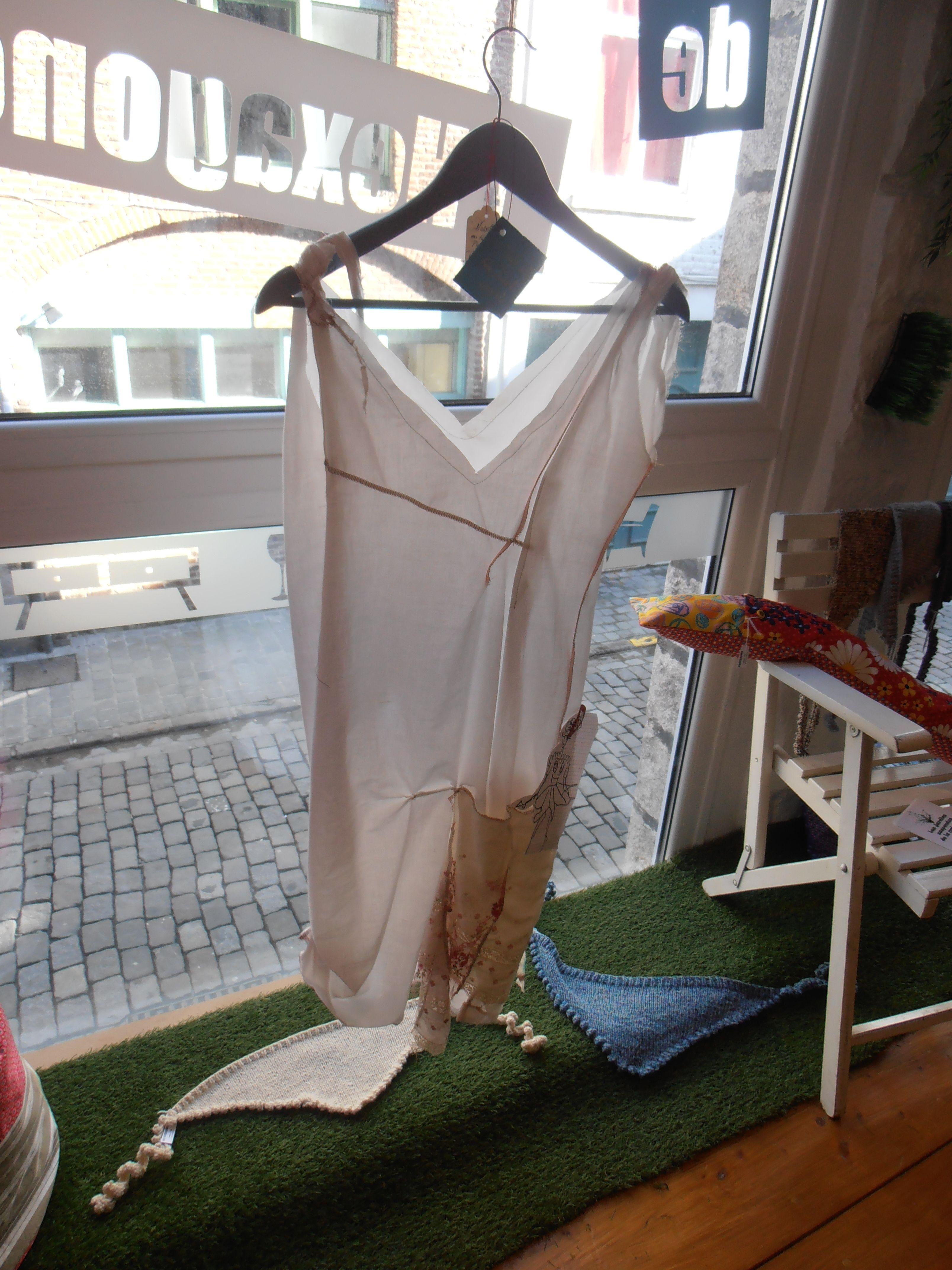 """robe nuisette """"baby Doll à la plage"""", voile de coton bio ...romantisme/ rock décalé..."""