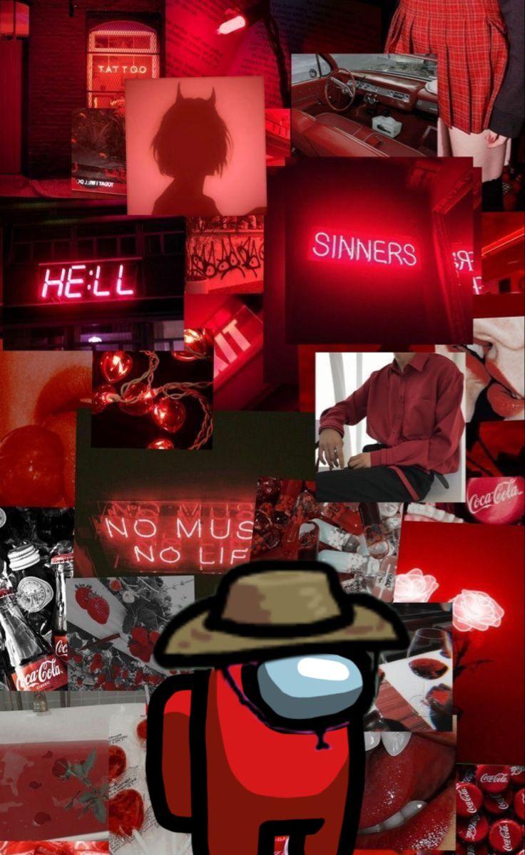 Among Us Aesthetic Iphone Wallpaper Iphone Wallpaper Tumblr Aesthetic Red Wallpaper