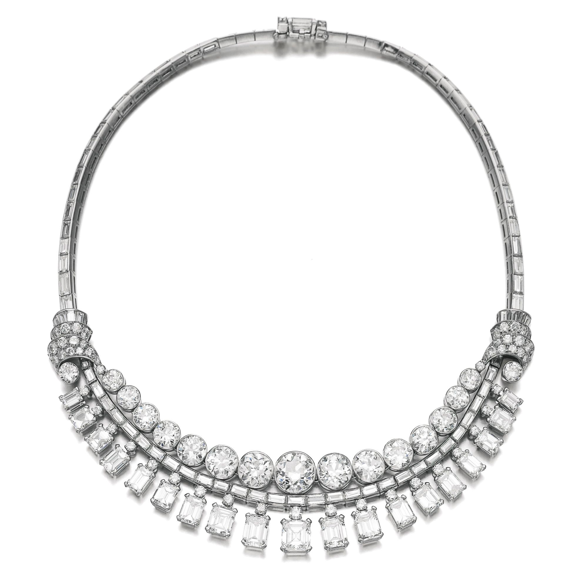 necklace cartier diamond jewels en baguette ecatalogue sotheby auctions lot s magnificent