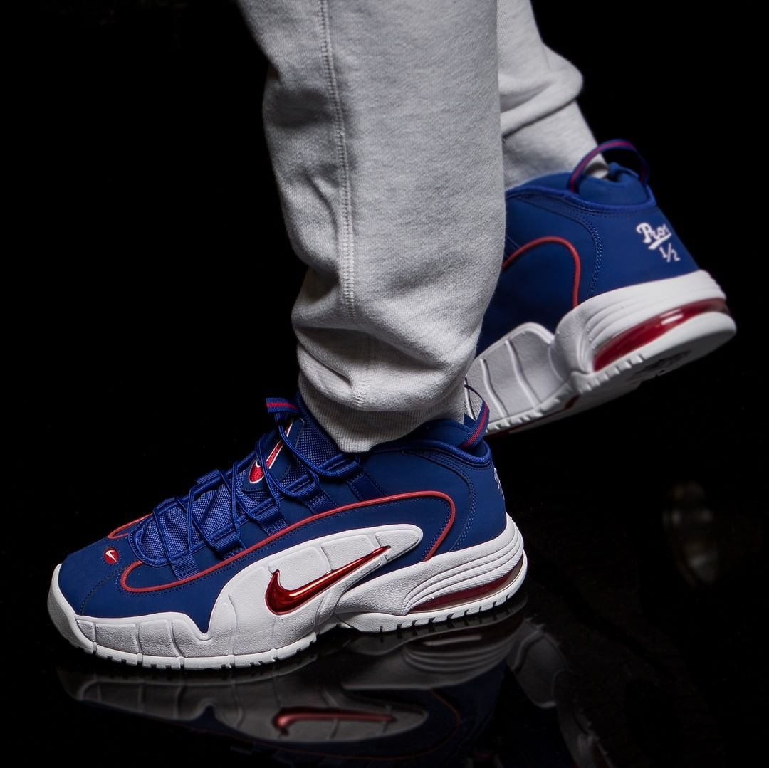 Nike Air Max Penny Blue   Red   White  827677c33659