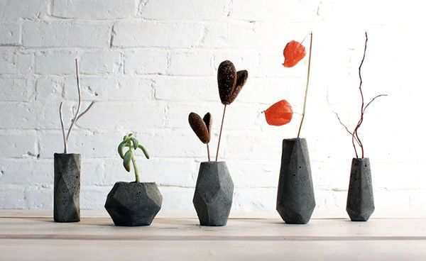 Beton Vasen Selber Machen machen originelle designs eckige form beton beton