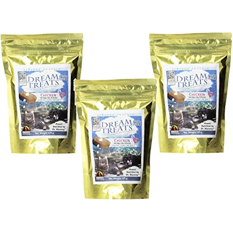 Wysong Dream Treats, 3 125Gram Bags, Chicken Flavor Raw