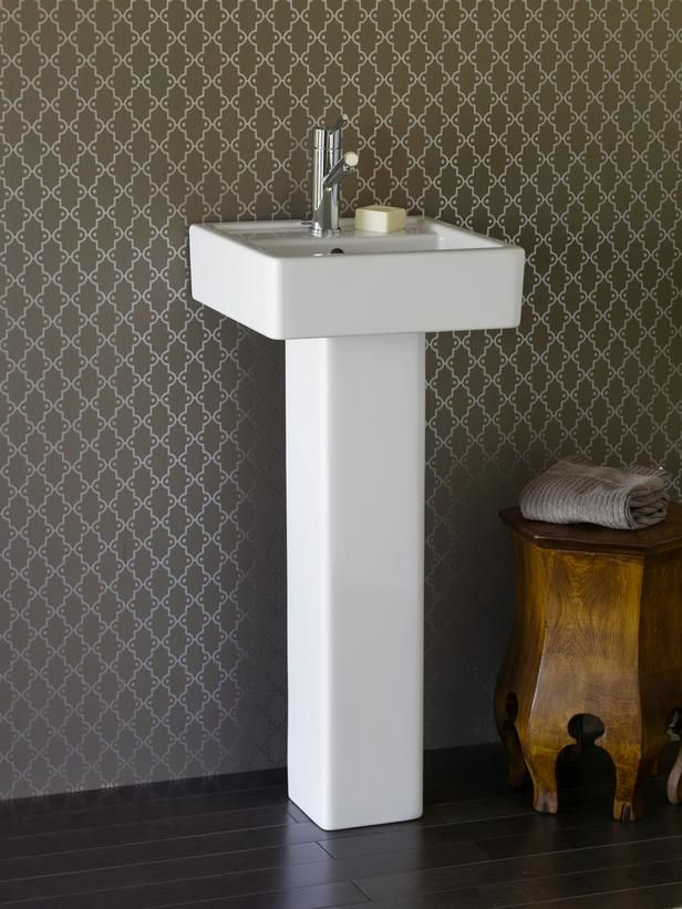 Pedestal Sink This Square Pedestal Sink By Porcher Has A Clean And