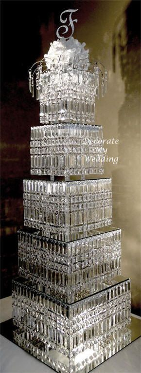DECORATE MY WEDDING Crystal Wedding Cake Centerpieces Patricia