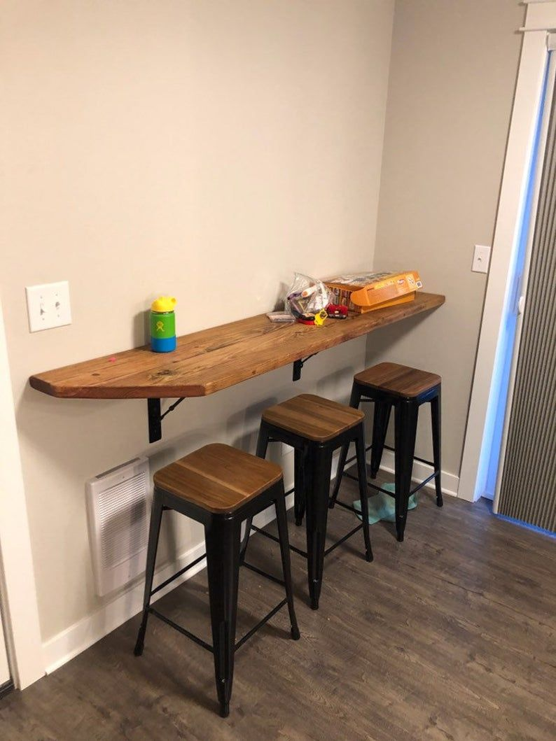 Wall Hanging Dining Table Buffet School Desk Breakfast Nook With Industrial Metal Turnbuckle Brackets Kitchen Bar Table Small Kitchen Tables Industrial Decor Kitchen