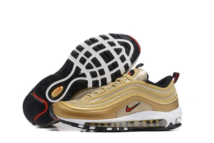8ab5069304c12d Men s Nike Air Max 97 Shoes Gold Yellow Black 312641-700 UK Trainers Sale