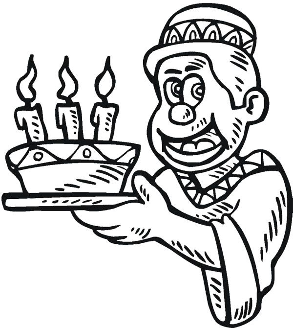 The Boy Happy Kwanzaa Candles Coloring Page | Coloring ...