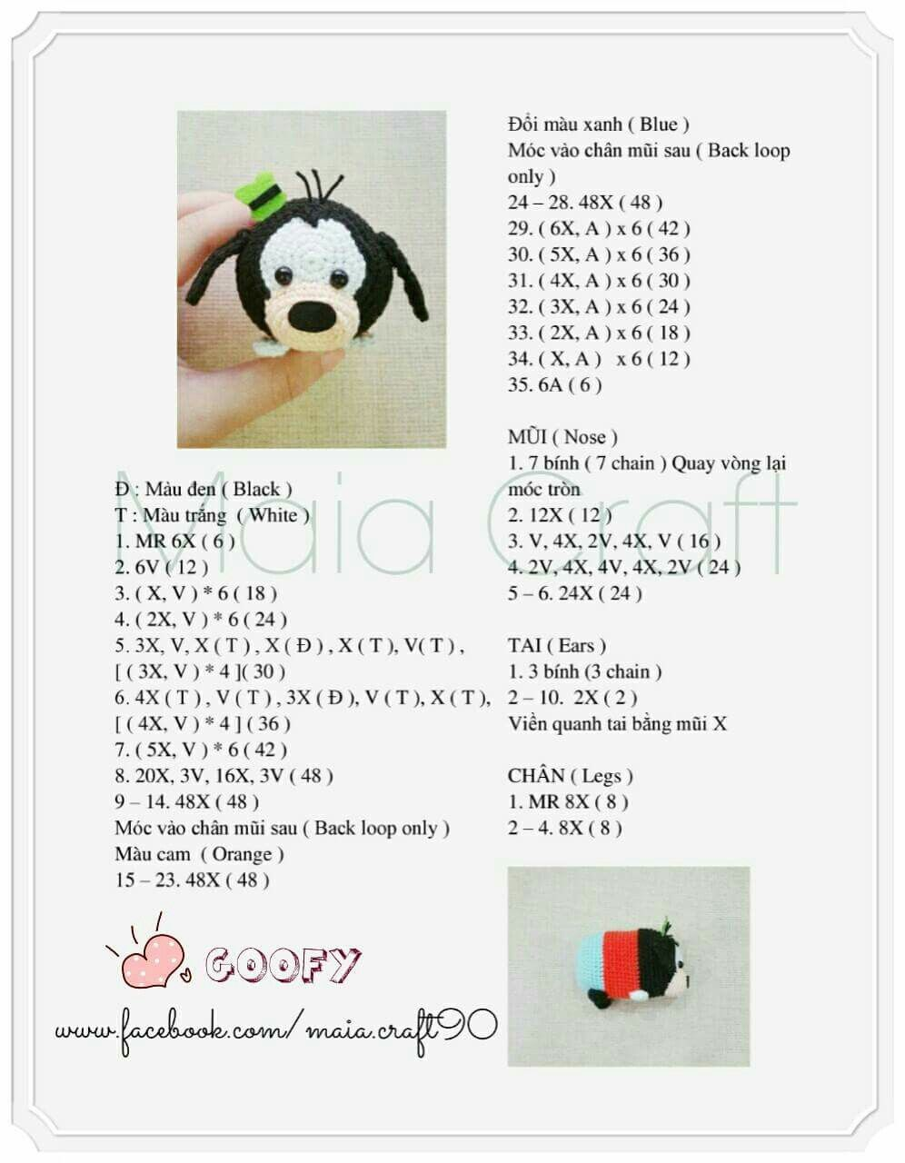 Crochet Tsum Tsum Groopy   ชอบ   Pinterest   Crochet, Amigurumi and ...