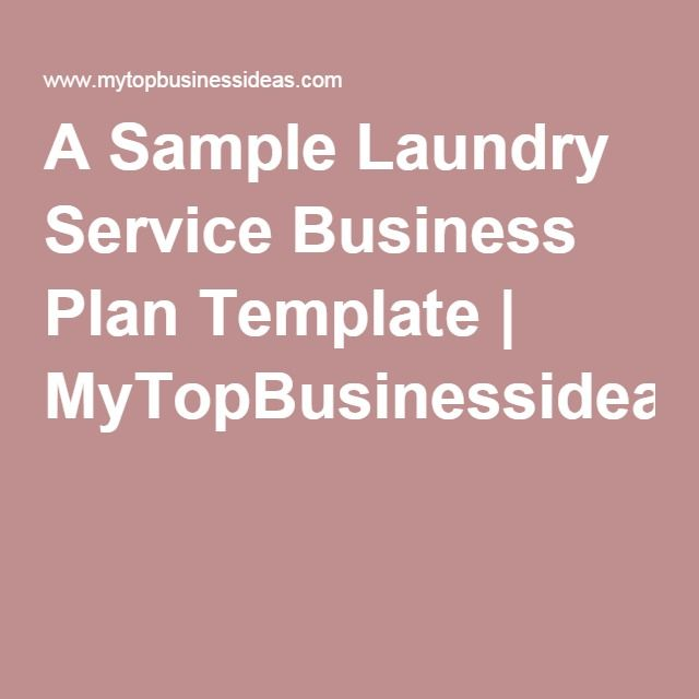 Starting A Laundry From Home Sample Business Plan Template