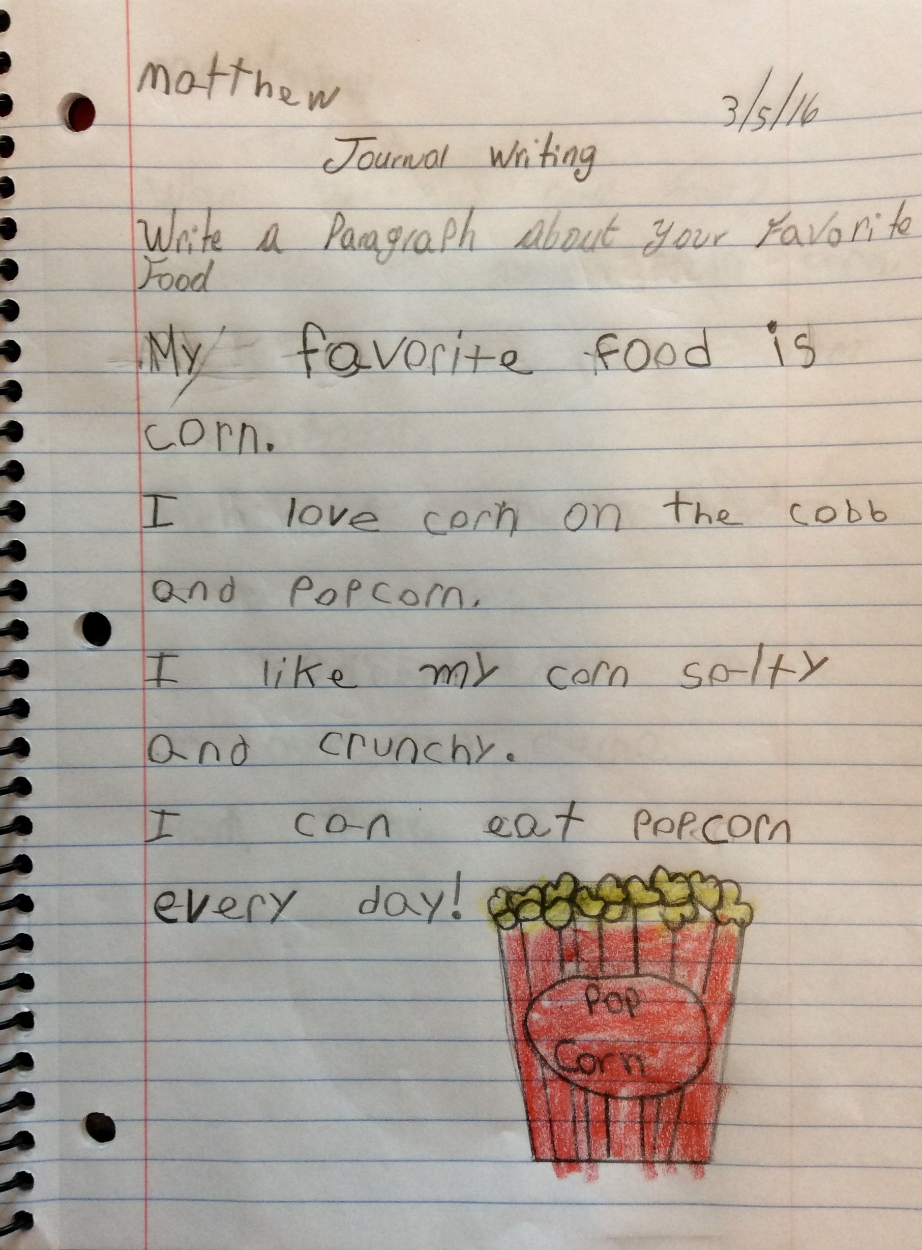 Write A Paragraph About Your Favorite Food With Images
