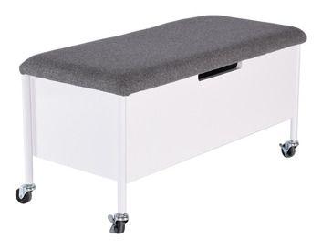 Rge Lawka Ze Skrzynia Na Kolkach Sture 90 Cm Biala Furniture Storage Bench Outdoor Ottoman