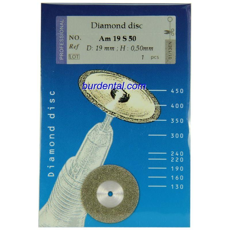 19mm Full Mono Coating Medium Grit HP Shank Diamond disc (Am19S50)
