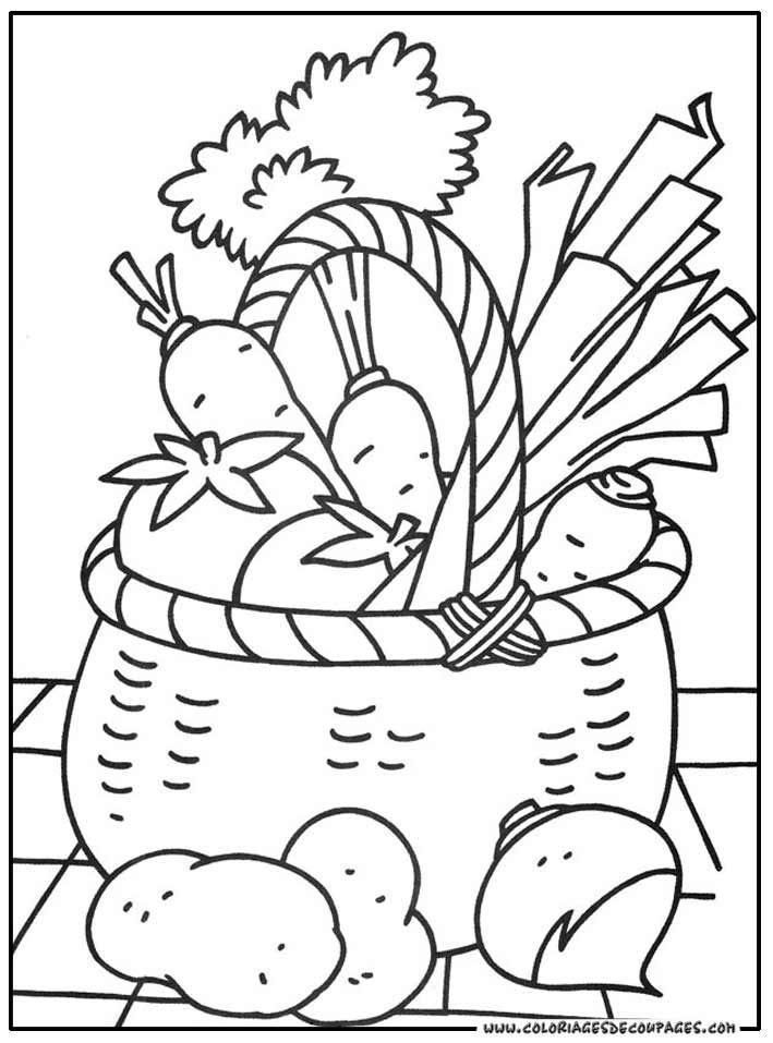 Photos coloriage jardin potager page 8  TPE  Pinterest ...