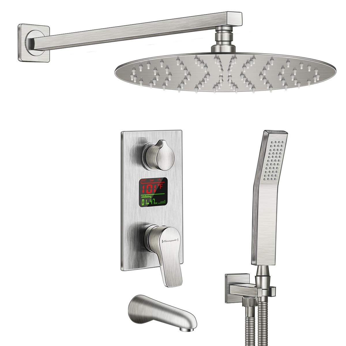 Charmingwater Shower System Shower Faucet Set With Tub Spout And