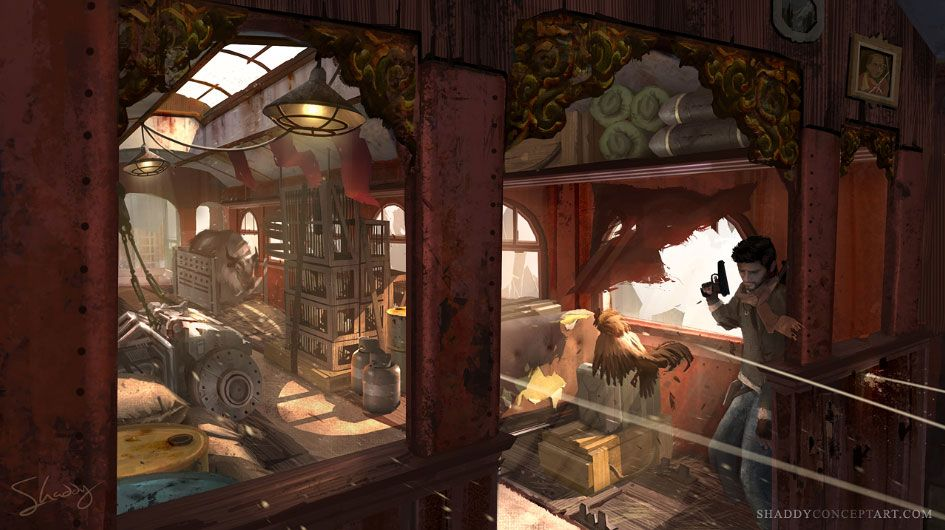 Train Fight Art From Uncharted 2 Among Thieves Art Artwork