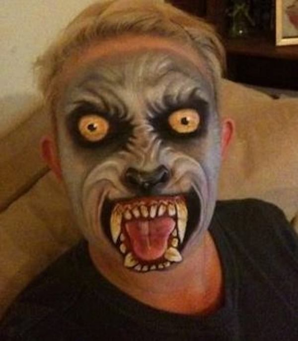 Mad Dog. The Scariest Halloween Face-Paintings You've Ever Seen In Your Life – BoredBug