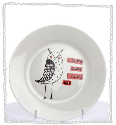 Owl Cake Plate