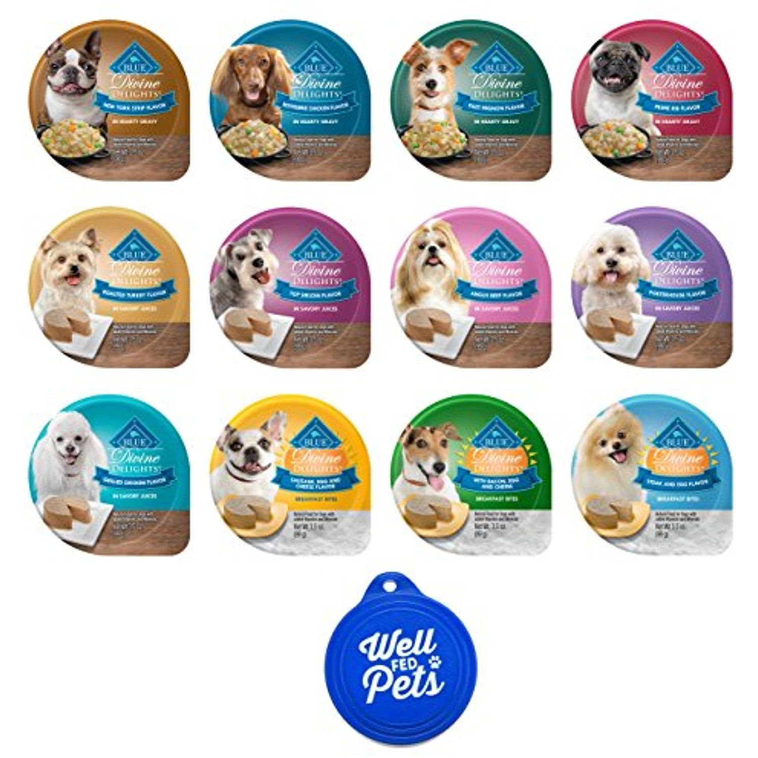 Blue Buffalo Divine Delights Dog Food Tubs Variety Pack 12