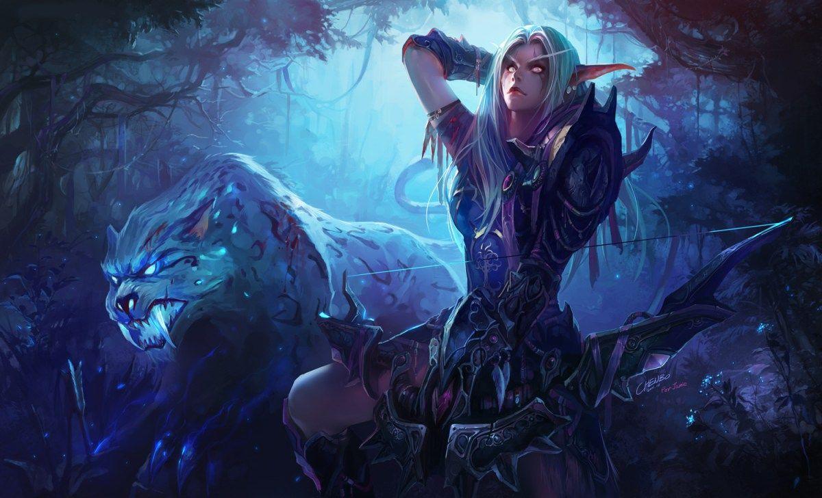 The Elf Huntress Wallpaper Dhdwallpaper Com World Of Warcraft World Of Warcraft Gold Charakterdesign