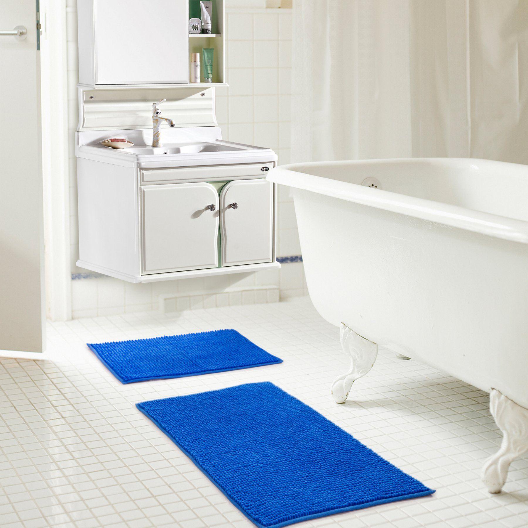 Rt Designers Collection Kara Short Pile Chenille 2 Piece Bath Mat