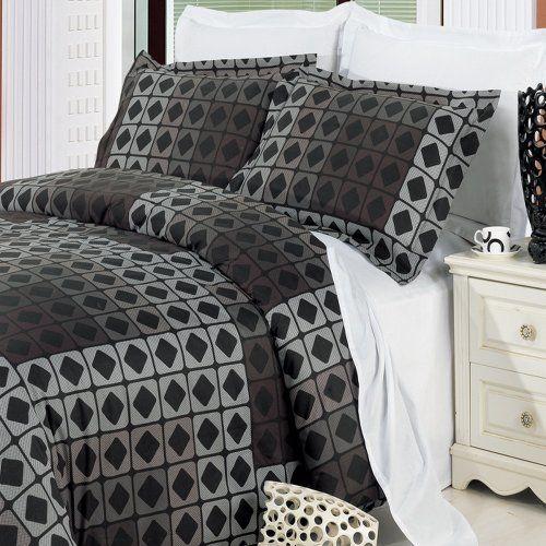 Geometric Grey Black Duvet Cover Boys Mens Bedding Set Full Queen Full Bedding Sets Black Duvet Cover Duvet Cover Sets