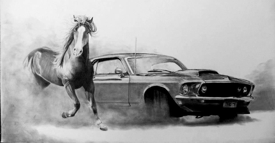 Uploaded Years Ago Mustang How To Draw The Mustang Logo Step