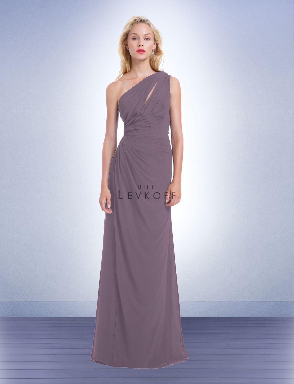 Bill Levkoff One Shoulder Bridesmaid Dress Choice Image - Braidsmaid ...