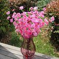 10 cachos pêssego de seda Artificial flor buquê de flores jardim Home Decor decoração de casamento New chegada