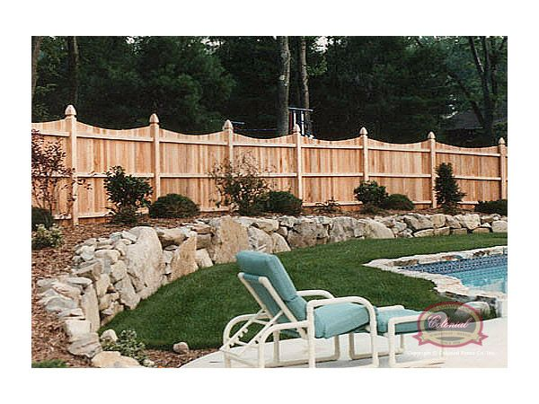Scalloped Stockade Fence Cedar Stockade Fence Wood Fences Privacy