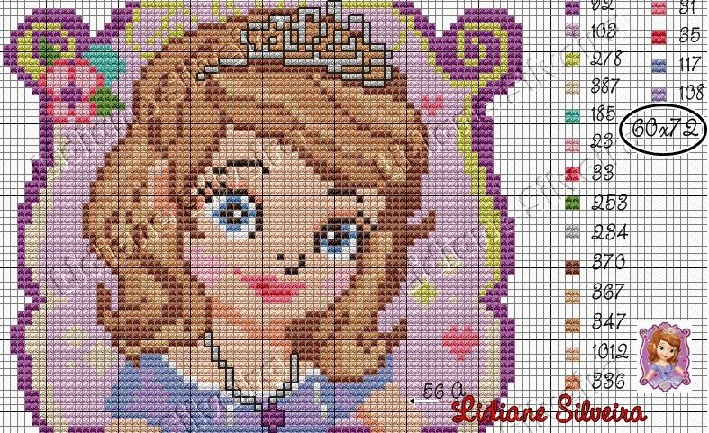 Sofia Jpg Jpeg Afbeelding 787 481 Pixels Punto De Cruz Disney Esquemas Punto De Cruz Punto De Cruz