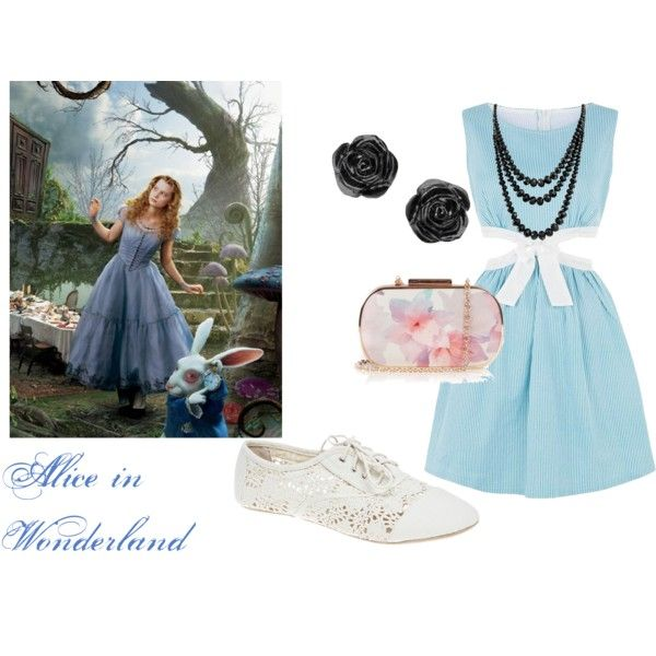 Alice in Wonderland by bakerstreetbelle on Polyvore featuring Cutie, Wet Seal, Oasis, Bling Jewelry, modern, lace, girly, AlliceInWonderland and blockbusterlooks