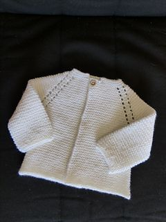 34d2f50a4e9006 Top Down Garter Stitch Baby Jacket pattern by Nancy Elizabeth Munroe ...