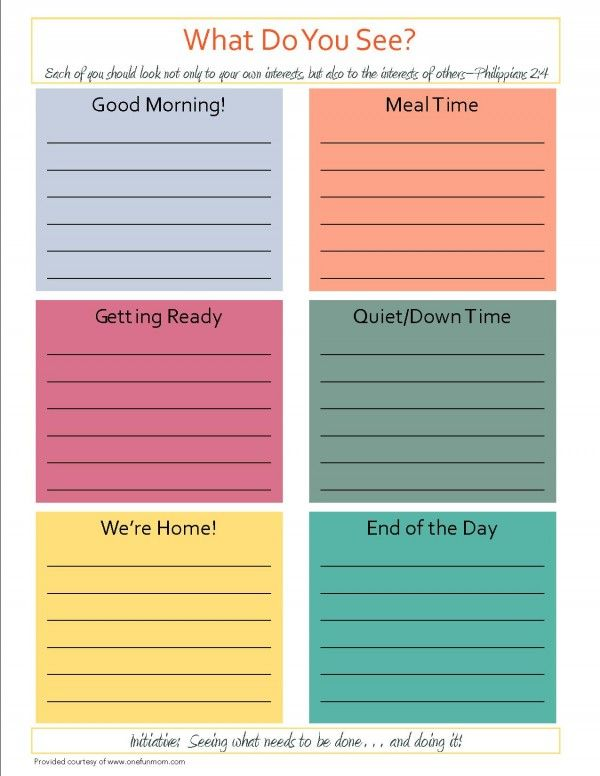 Free Inititative Chore Chart For Kids From One Fun Mom  Kids