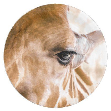 Giraffe Hello Paper Plates - animal gift ideas animals and pets diy customize  sc 1 st  Pinterest & Giraffe Hello Paper Plates - animal gift ideas animals and pets diy ...