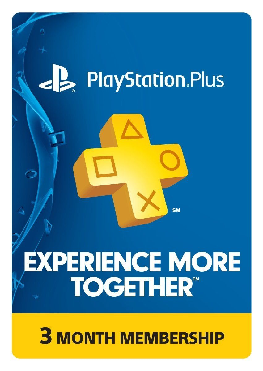 Amazon 3 Month Playstation Plus Membership PS3 PS4 PS
