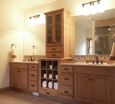 Mission Style Bathroom Cabinets Pictures Mission Style Oak Bath