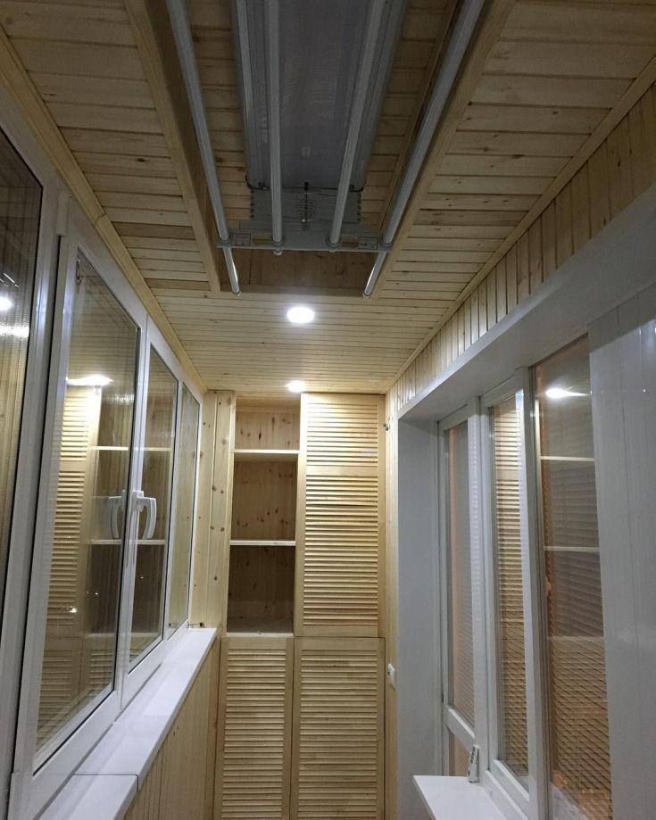24 фото дизайн балкона обшитого деревянной вагонкой ...