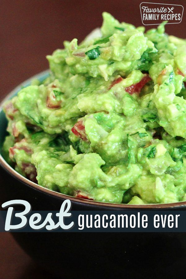 This truly is THE best guacamole EVER. It is the ONLY guacamole recipe you will ever need. Just a f