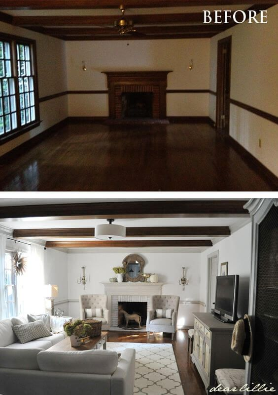 Before And After 26 Budget Friendly Living Room Makeovers To Inspire You Home Living Room Transformation Home Remodeling