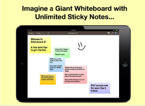 Stickyboard 2 An Excellent Whiteboard and Sticky Notes
