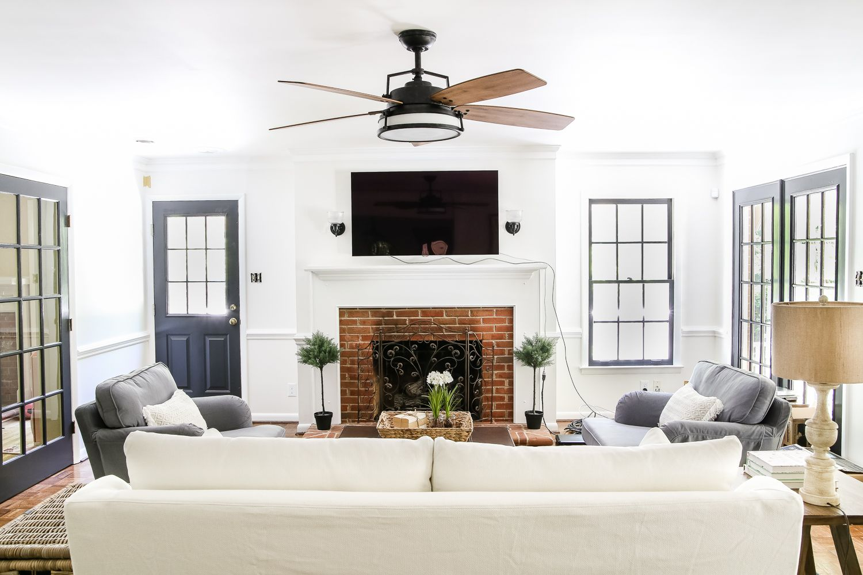 Living Room Update Ceiling Fan Swap Bless Er House Li