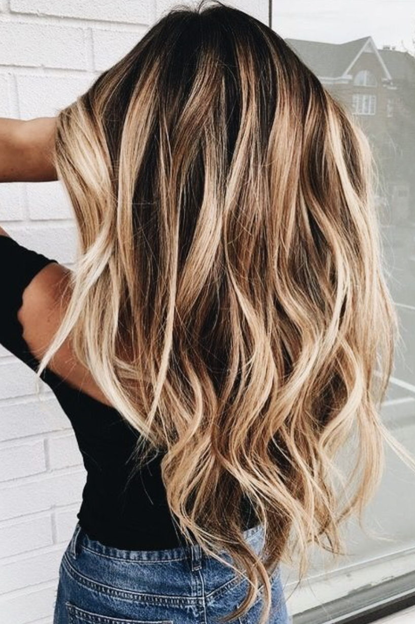 long balayage hair blonde curls | hair + makeup | Hair ...